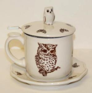 Simpson & Vail's Owl Tea Infuser Mug
