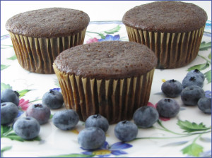 Blueberry Gingerbread Muffins