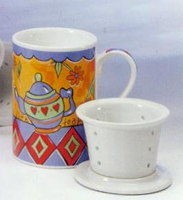 Tea mug Infuser with larger holes