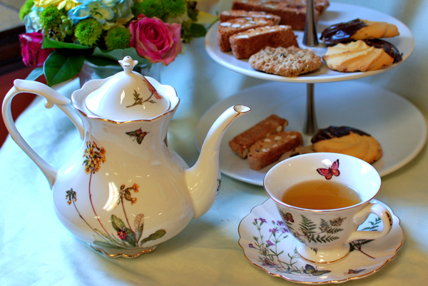 Butterfly Teaset & Cookies