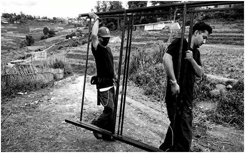 nepal-metalframesfor school-tempclassroom