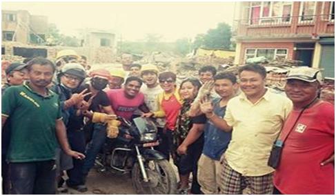 nepal-motorbikepulledfromrubble