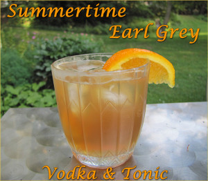 Summertime Earl Grey Vodka & Tonic