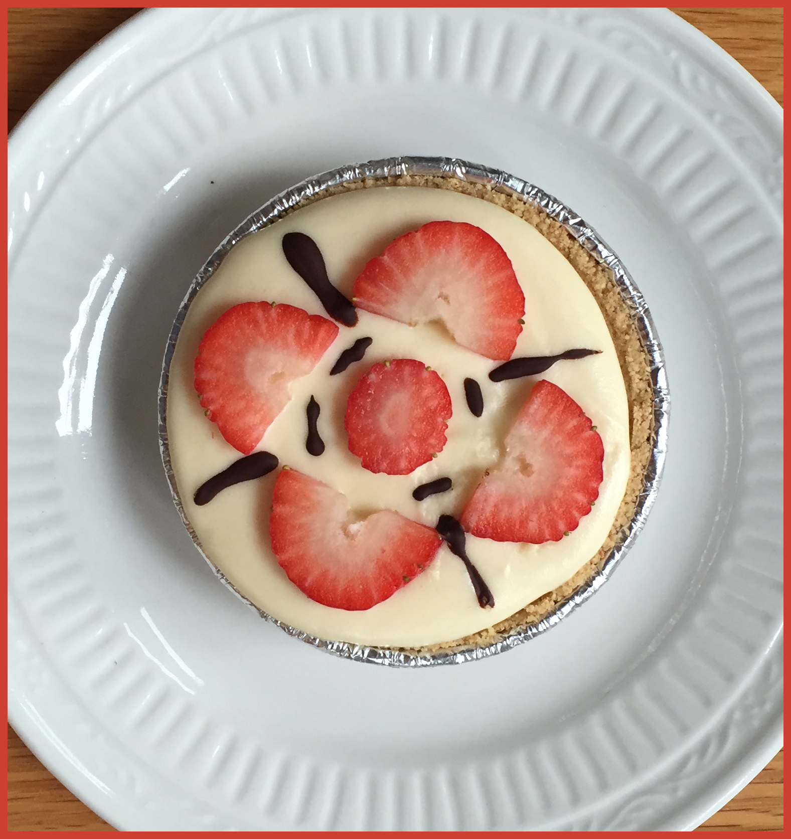Valentine's Tea White Chocolate Mousse Tart