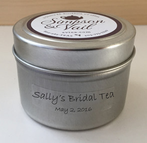 Personalized Tea Gifts Bridal Tea Tin