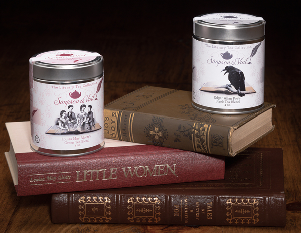 Literary Tea Line Alcott & Poe