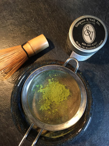 Sifting Matcha Green Tea
