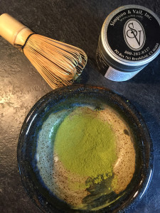Sifted Matcha Green Tea Ready for Brewing