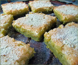 Matcha Green Tea Lemon Squares