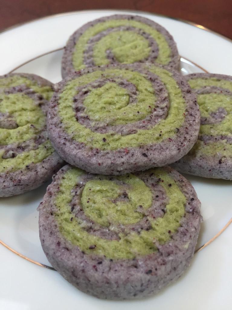Matcha Hibiscus Cookies
