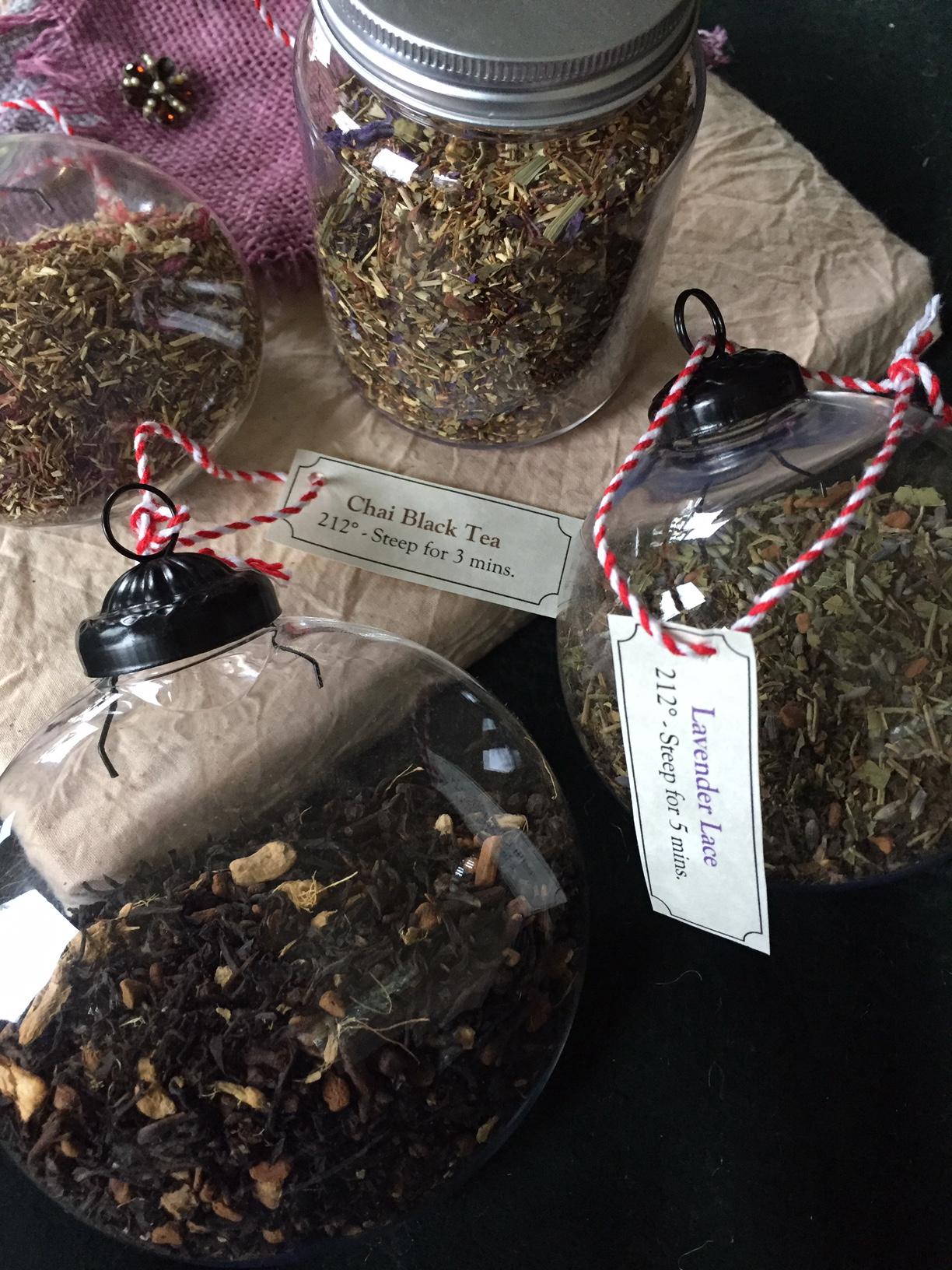 Tea Filled Ornaments