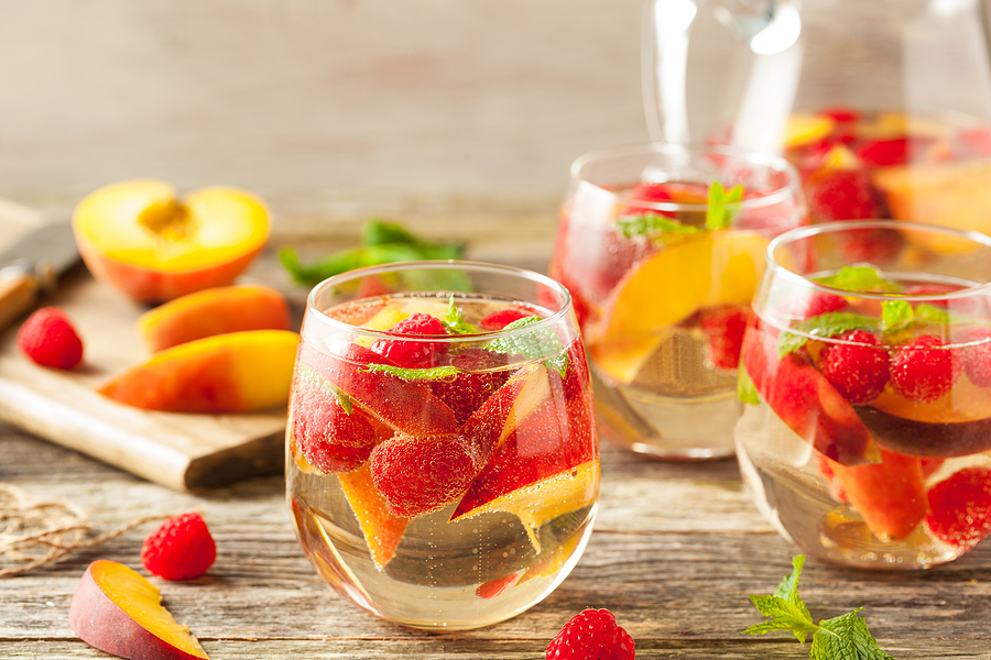 Tea Sangria Recipe White Tea Raspberry Peach Sangria