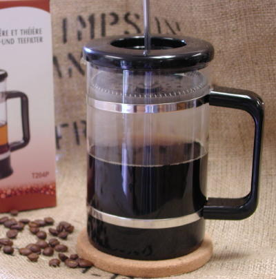 French Press coffee using Simpson & Vail's fresh roasted coffee